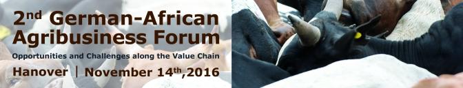 2nd German-African Agribusiness Forum, Hanover (Germany), 14 November 2016
