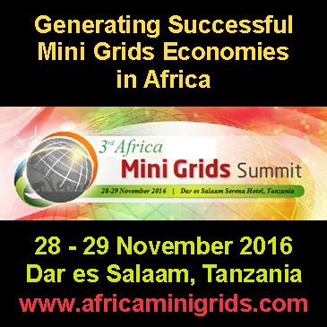 3rd Africa Mini Grids Summit 2016, Dar es Salaam (Tanzania), November 28-29, 2016